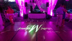 wedding monogram, uplighting