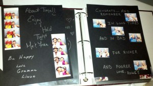 Photo booth scrap book guest book