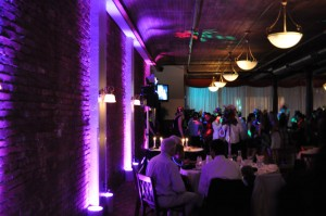 DJ Johnny's uplights at the Terrecotta
