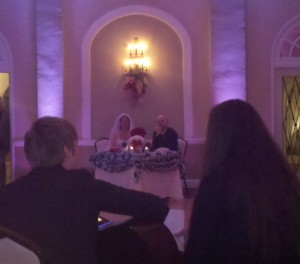Bride and Groom serenaded with acoustic guitar and song