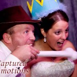Newly weds enjoy Johnny Only's wedding photobooth