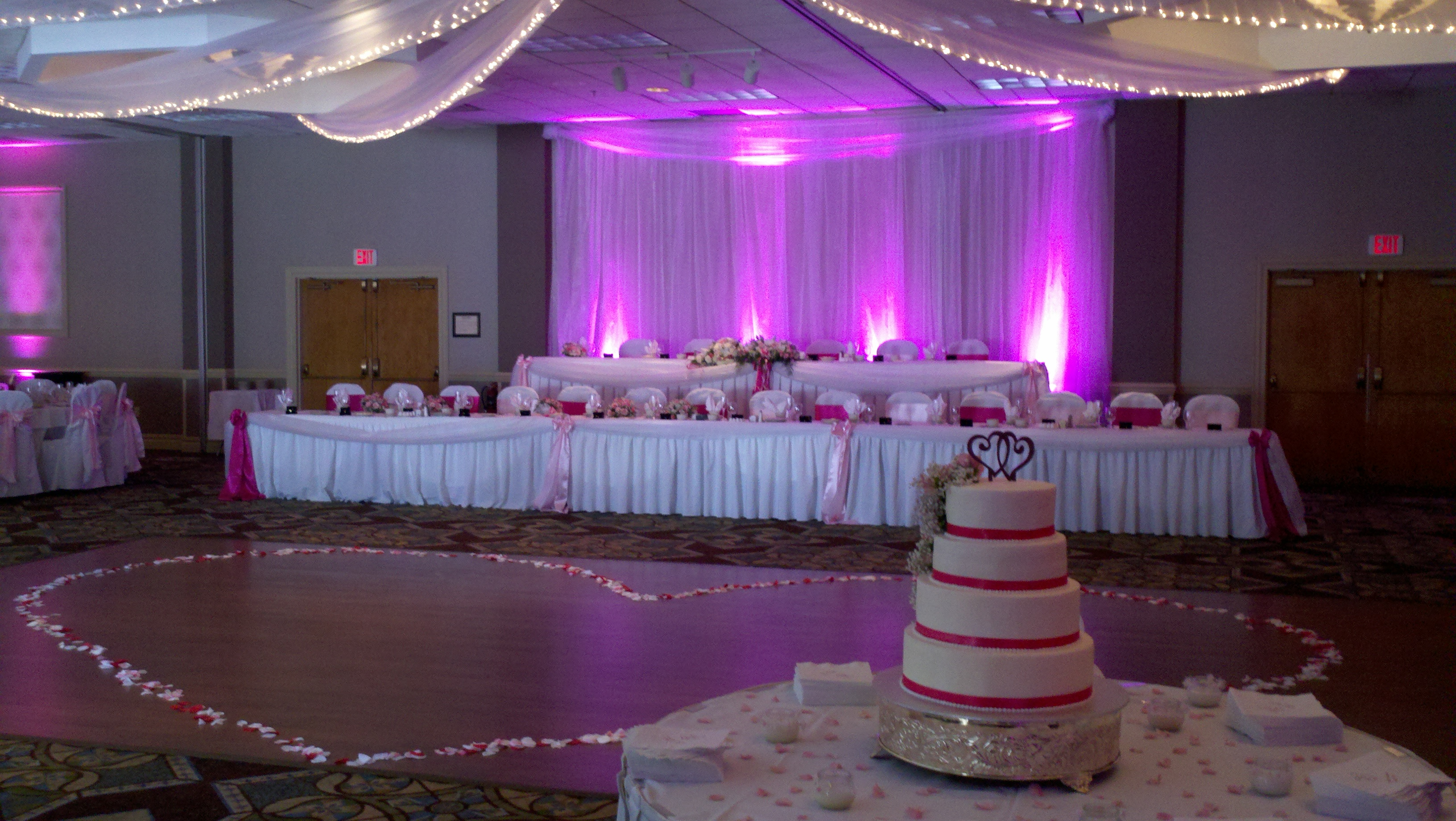 Uplights For A Wedding Reception At The Mckinley Holiday