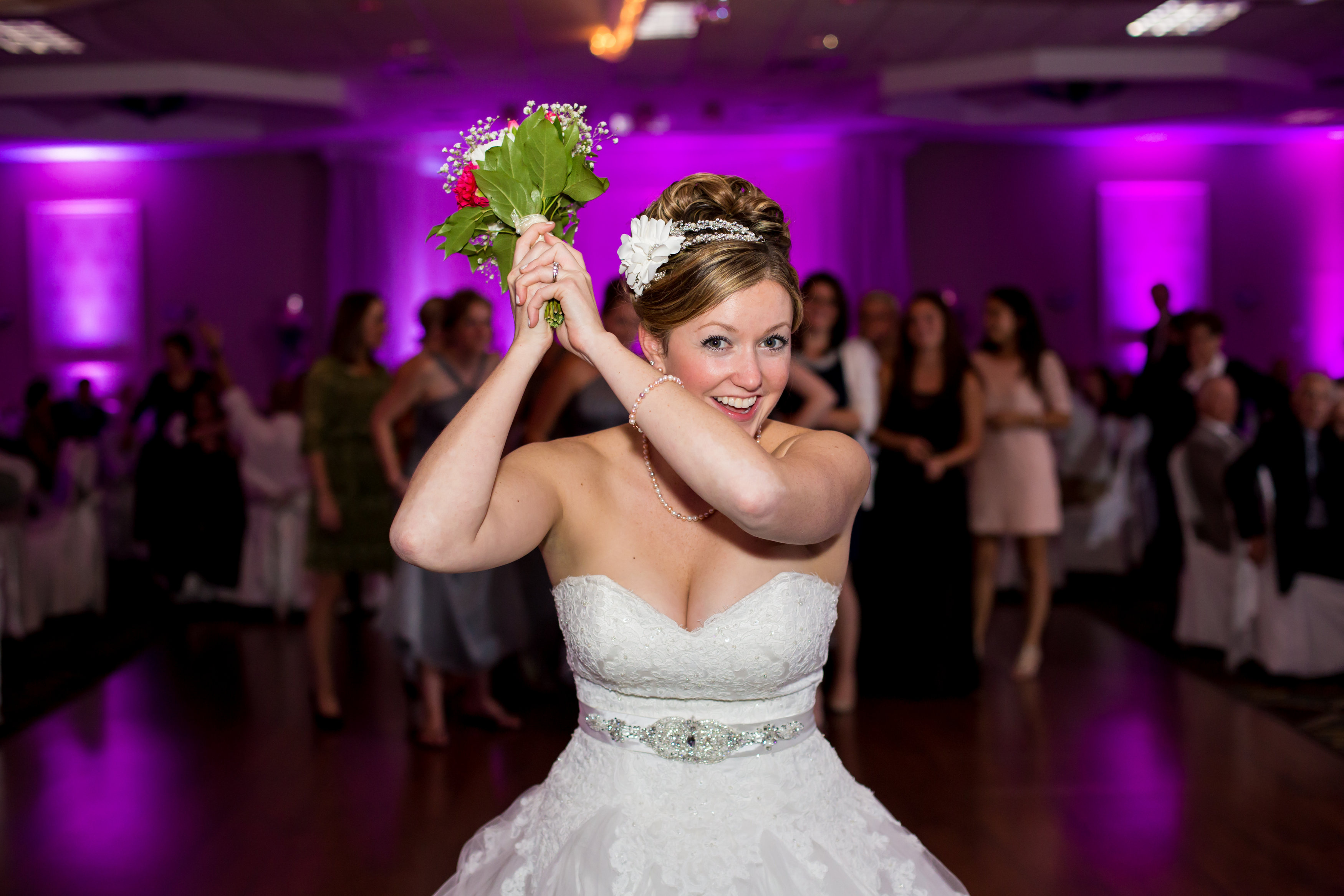 Wow! Check out the uplights at this Holiday Inn Wedding!