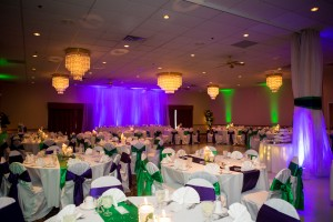 Johnny's wedding uplighting at the Owego Treadway